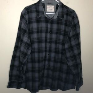 Weatherproof vintage grey and black  button-up